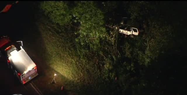 The accident occurred just north of the Roaring Brook Road exit in Chappaqua.