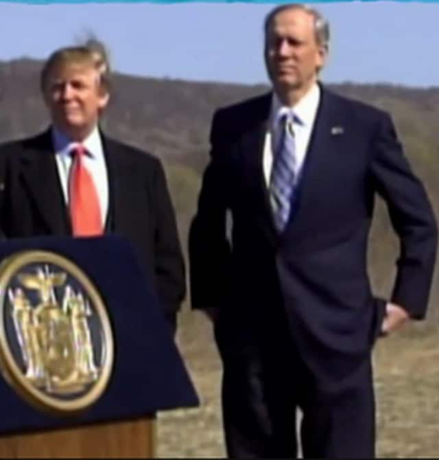 Donald Trump and George Pataki in happier times, 2006, in a photo Pataki posted on Twitter.