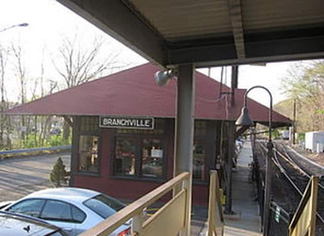 The Branchville Train Station is a main feature of the village.