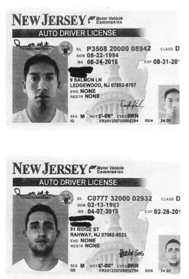 Copies of two of the counterfeit driver's licenses that were made in China in a Stamford-based fraud.