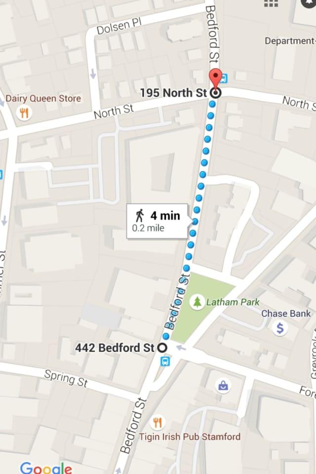 Bedford Street closing for weekend, per Stamford Police Dept.