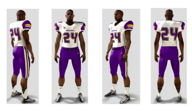 Nike has provided new uniforms for the Westhill High School football team in Stamford, courtesy of CEO Mark Parker, a graduate of the school.