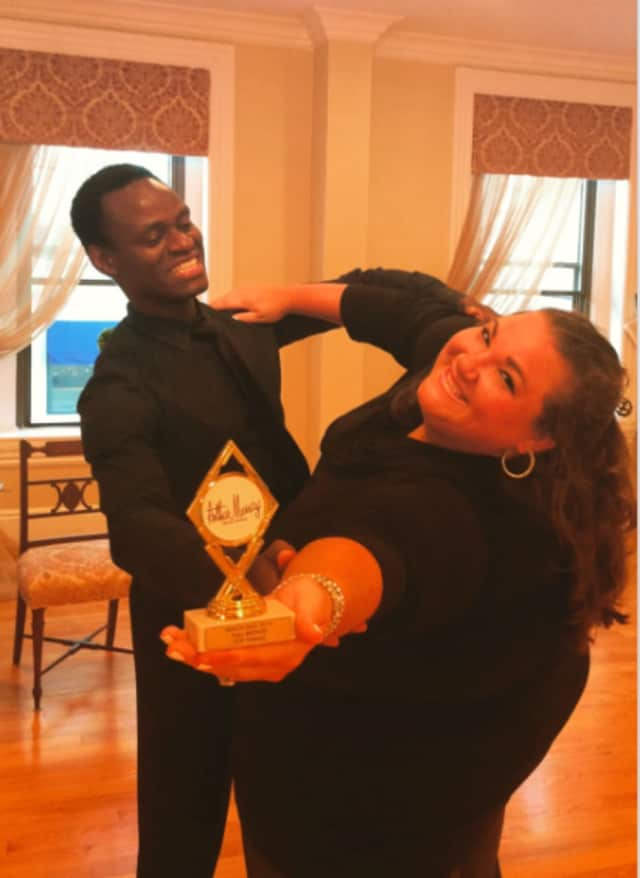Melissa Vitti of Greenwich, along with dance instructor Ricardo Sopin, also a Greenwich resident and First Place Empire State Mambo Dance Champion, competed in an Arthur Murray sanctioned event in New London.