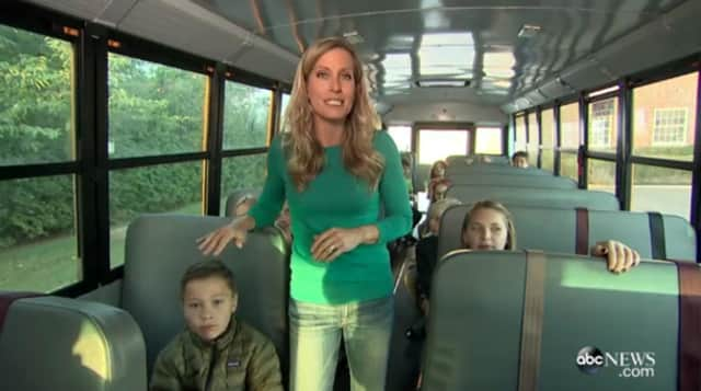 Ridgewood children were featured on a Good Morning America story riding a school bus -- something Ridgewood elementary school students don't do.