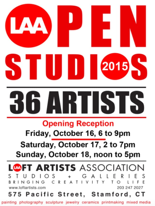 """""""Open Studios 2015"""" at 575 Pacific St. in Stamford will run Oct. 16 to 18."""