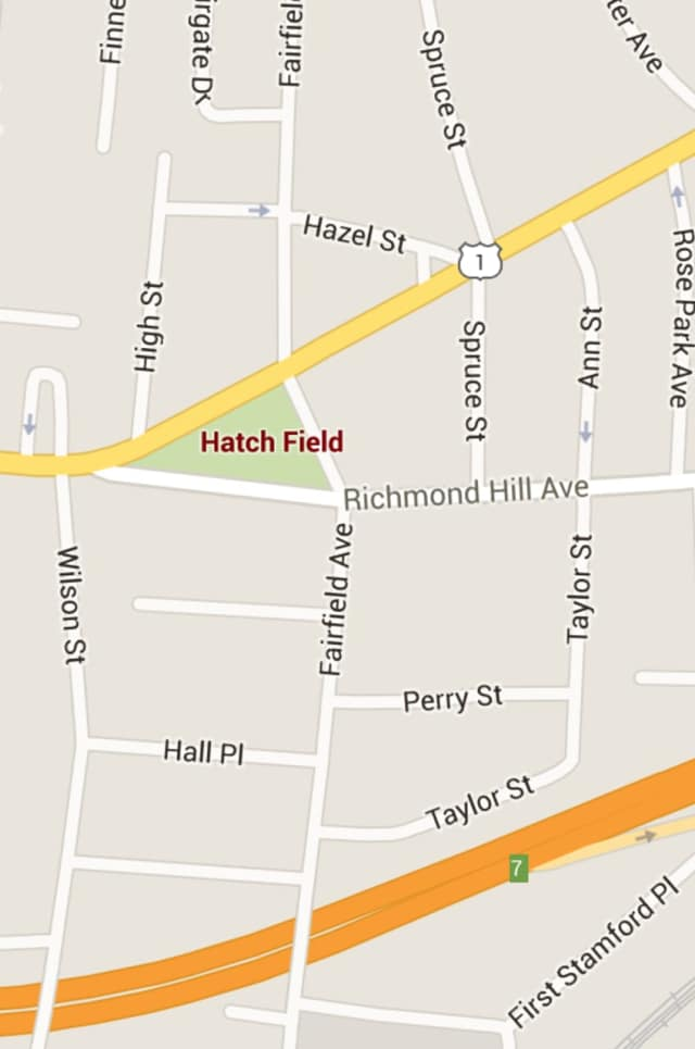Hatchfield Park in Stamford was the scene of a shooting late Saturday.