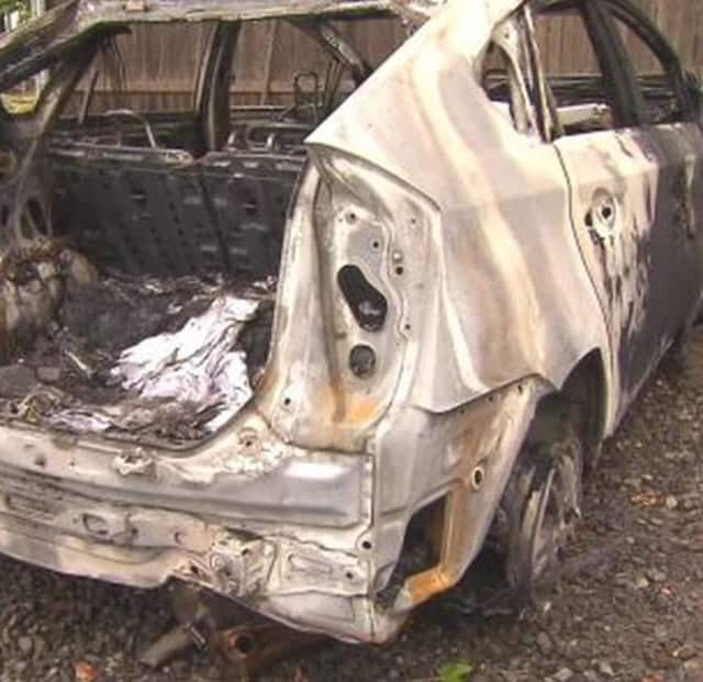 A man was pulled from his burning car Wednesday morning by dood Samaritans after an accident on Sprain Brook Parkway.