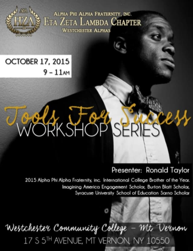 The Eta Zeta Lambda chapter of Alpha Phi Alpha Fraternity will kick off of a workshop series Oct. 17 for area high school students.