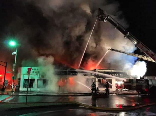 Three municipalities assisted in battling the blaze in Mount Vernon.