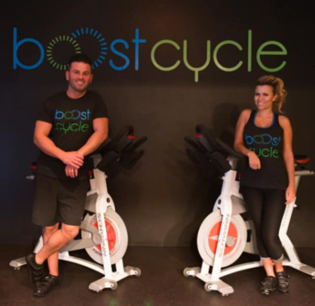 Valdrin and Tatiana Mehemet co-owners of Boostcycle in Newtown.