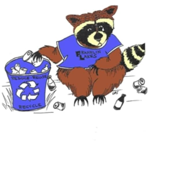 Robby the Recycling Raccoon is the recycling mascot of Franklin Lakes.