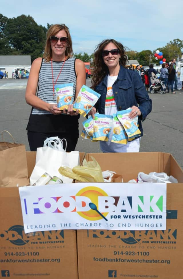 The Junior League of Bronxville collects food for the Westchester Food Bank, one of the many organizations it supports.