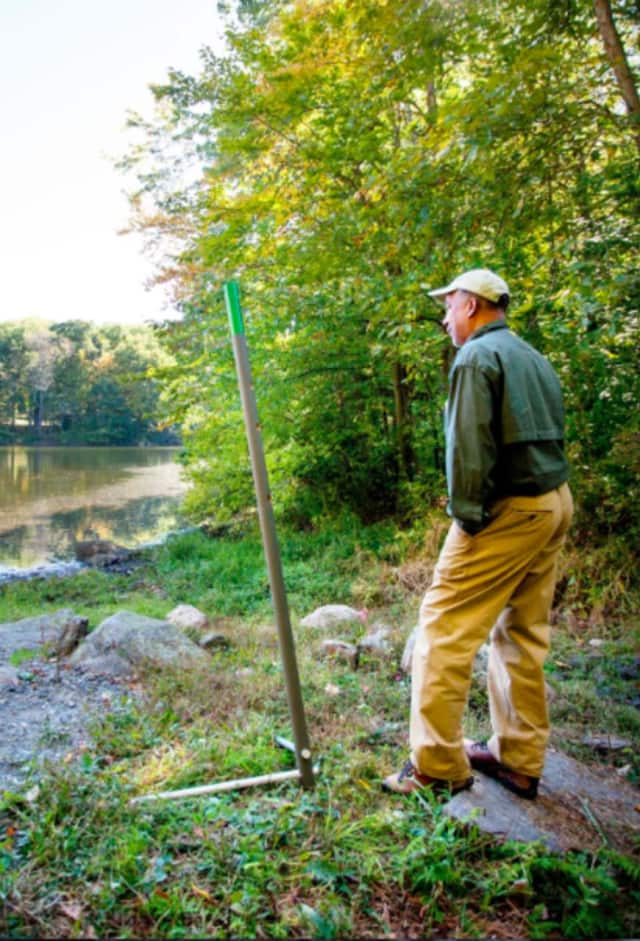 """Weir Farm National Historic Site's new """"view poles"""" will guide visitors around the park year-round."""
