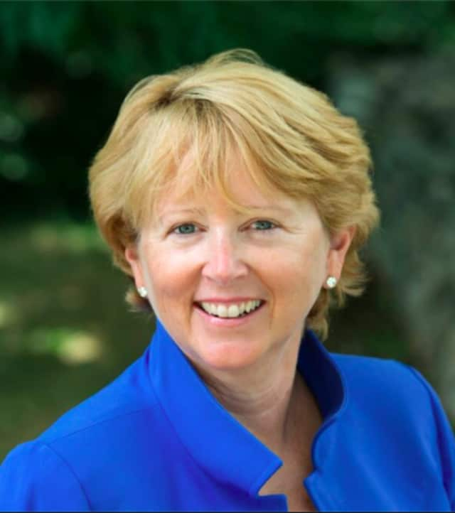 Lynne Vanderslice was elected first selectman of Wilton in Tuesday's election.