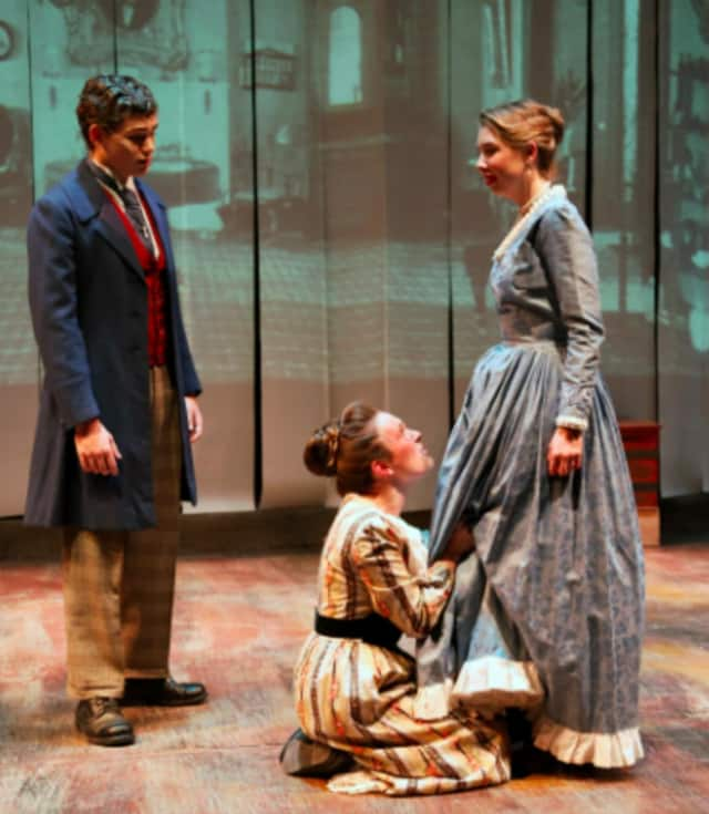"Students at New Canaan High School recently concluded their production of ""The Orphan Train."""