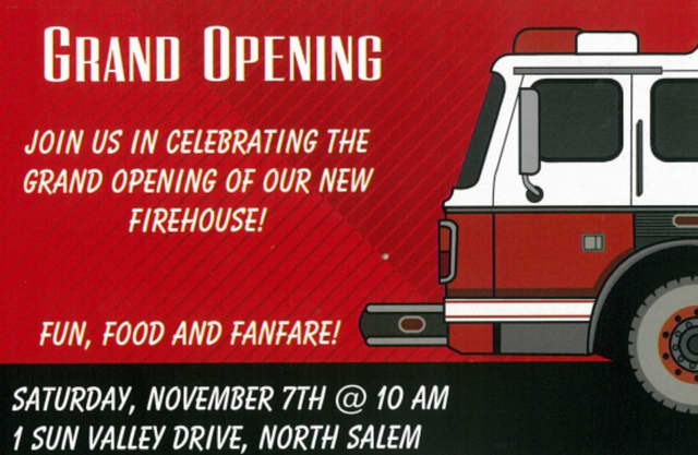 A grand opening is set for the new Croton Falls firehouse.