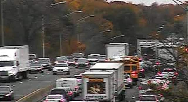 State police are investigating a two-vehicle accident on I-95 in Port Chester Thursday that left one person injured.