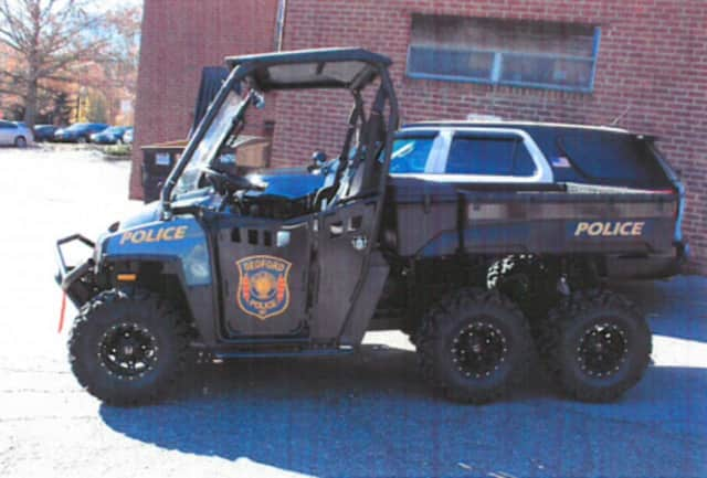This is the Bedford Police Department's new utility terrain vehicle.