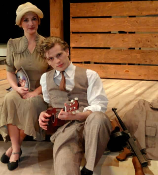 Arielle Boutin and William Bednar star as Bonnie and Clyde.