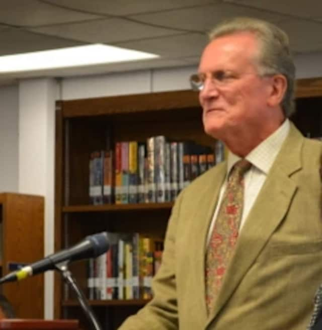 John Chambers, pictured at a 2014 Katonah-Lewisboro school board meeting, when he assisted the district with its superintendent search.