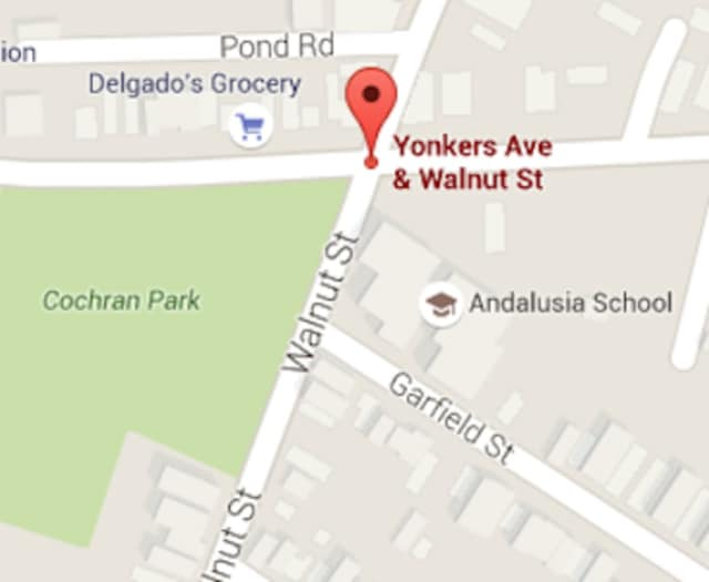 A pedestrian sustained minor injuries after being struck by a car on Yonkers Ave. Thursday night.