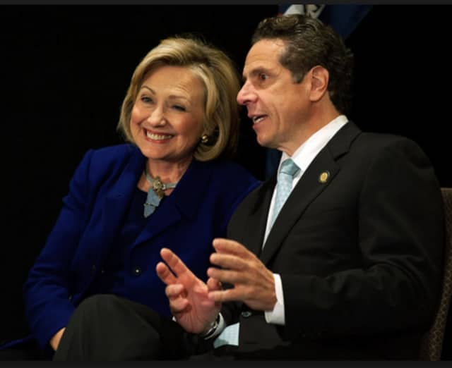 Hillary Clinton and Andrew Cuomo.