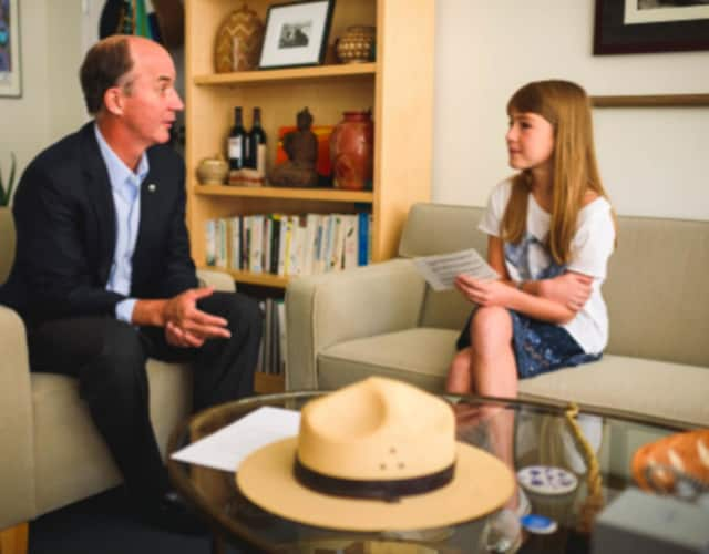 New Canaan Country School seventh grader Charlotte Mayer interviewed the President and CEO of the World Wildlife Fund Carter Roberts.
