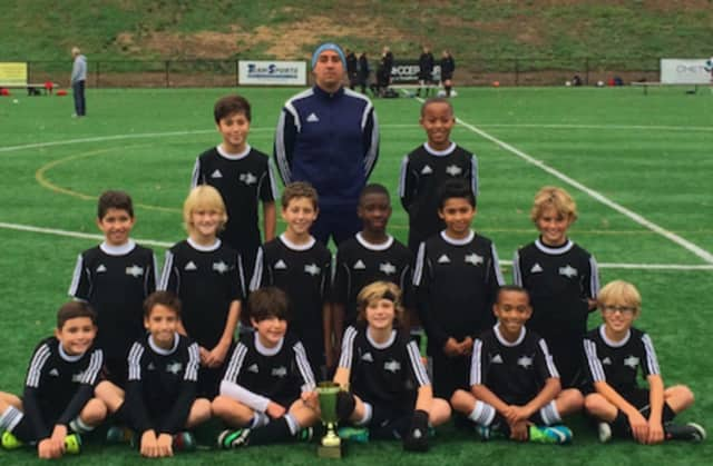 The Stamford Youth Soccer League's Boys U11 White Team won the CT Cup.