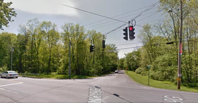 Two cars crashed at the intersection of Route 9G and Kelly Road in Red Hook on Sunday. The drivers escaped serious injury at the intersection, which has a history of serious accidents.