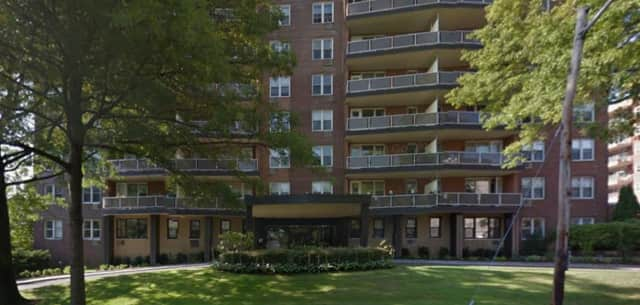 "Port Chester police said a 26-year-old man died Tuesday from injuries ""consistent with a possible fall"" from this apartment building at 360 Westchester Ave."