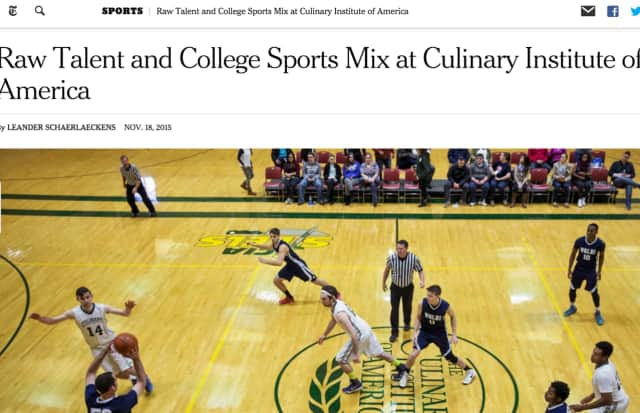 The New York Times featured CIA's unique mix of food preparation with athletic participation.