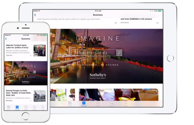 Sotheby's International Realty is the only real estate company on Apple News.
