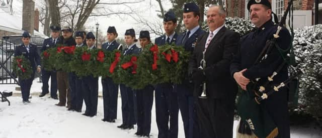 Cadets of Cadet Squadron 1 and Pelham Funeral Home will collect wreaths in Pelham for a special ceremony to remember veterans.