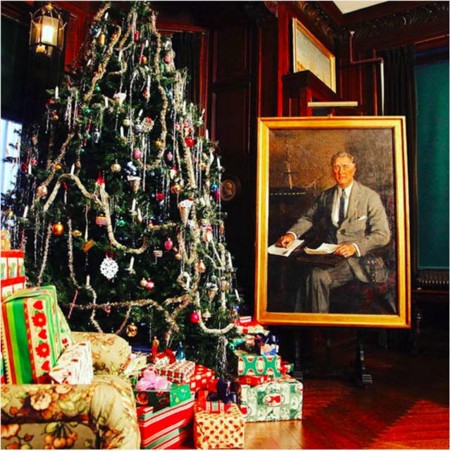 The Home of Franklin D. Roosevelt is being decorated for a Hyde Park Christmas. Visitors can see the decorations after Thanksgiving.