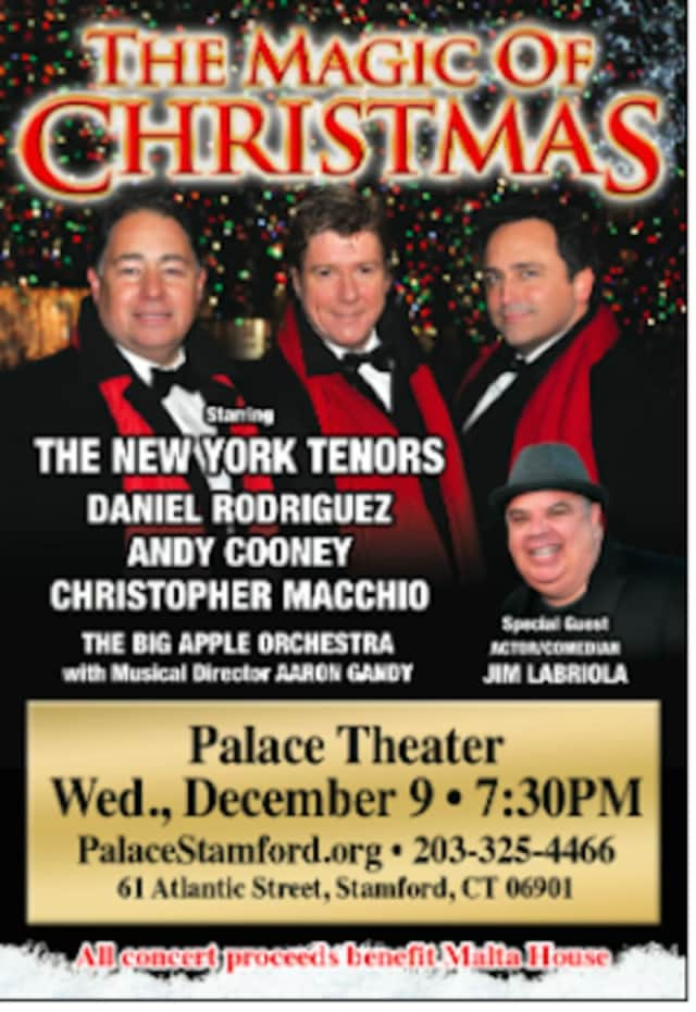 The New York Tenors will perform in concert Dec. 9.