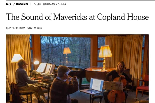 The Copland House was the subject of a New York Times feature.