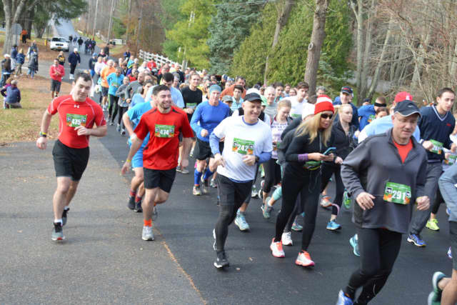The 12th-annual Bedford Turkey Trot is scheduled for Saturday morning. Pictured is a previous year's run,