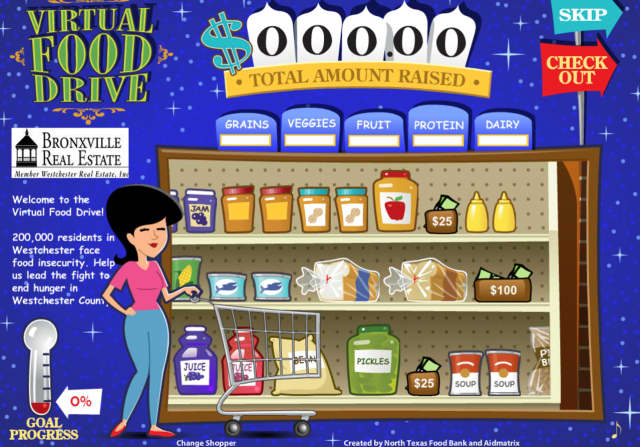 Bronxville Real Estate and The Food Bank For Westchester have created a Virtual Food Drive to support hungry county residents.