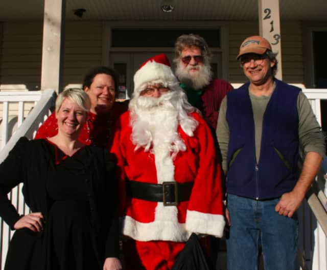 Bonnie Wisnowski, from left, will join bandmates Susan Lang, Bill Wisnowski and Leif Smith, along with Santa at Dec. 6 show in Bethel.