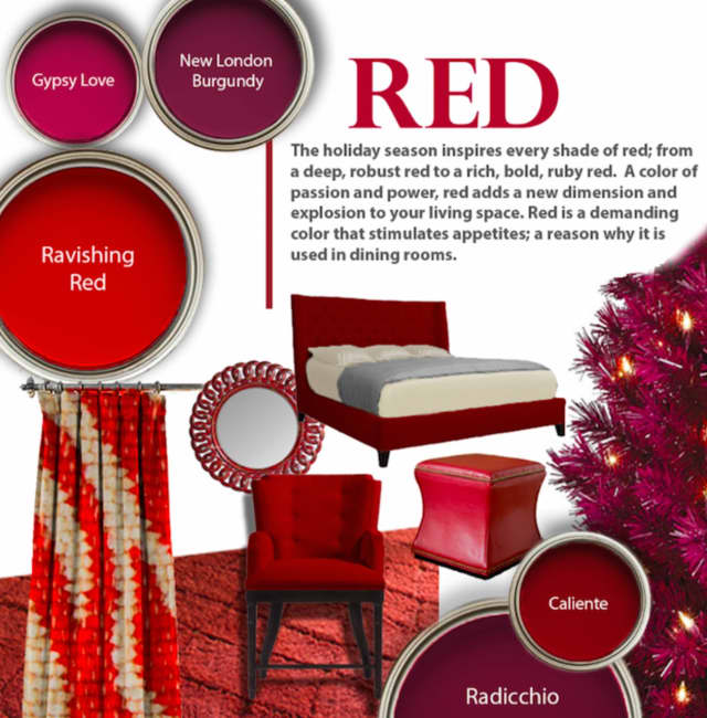 Red is a terrific color for the holidays.