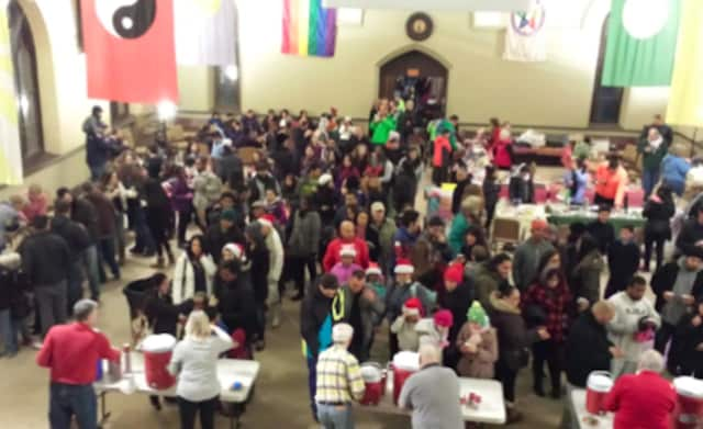 """The Unitarian Universalist Congregation in Stamford's """"Cocoa Caper"""" helped the Food Bank of Lower Fairfield County."""