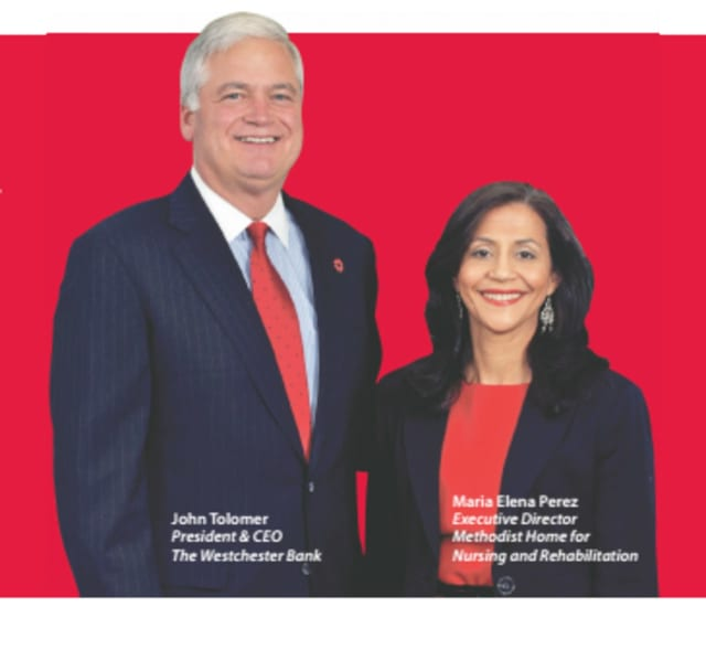 Maria Elena Perez of the Methodist Home for Nursing and Rehabilitation said responsiveness of John Tolomer and The Westchester Bank sets them apart from other bankers.