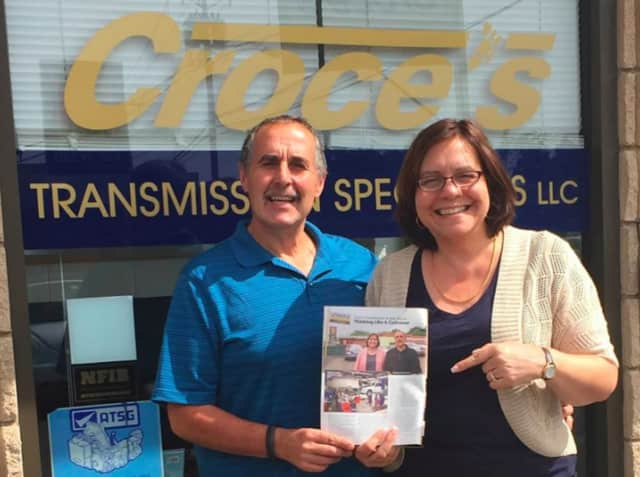 Maryann Croce, right, and her husband, Tony, are the co-owners of Croce's Transmission Specialists in Norwalk.