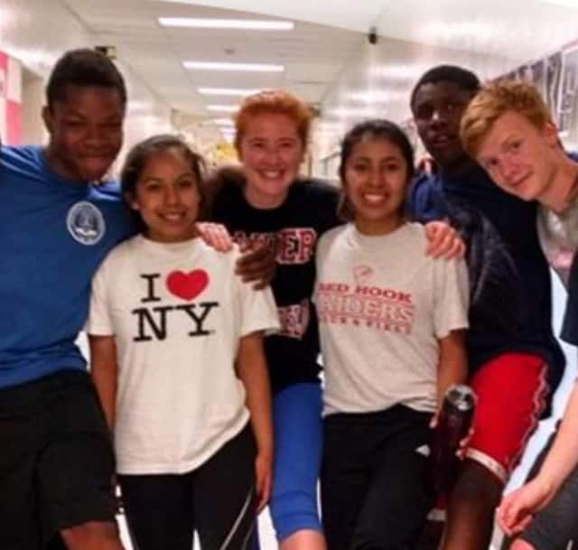 Students at Red Hook High School.