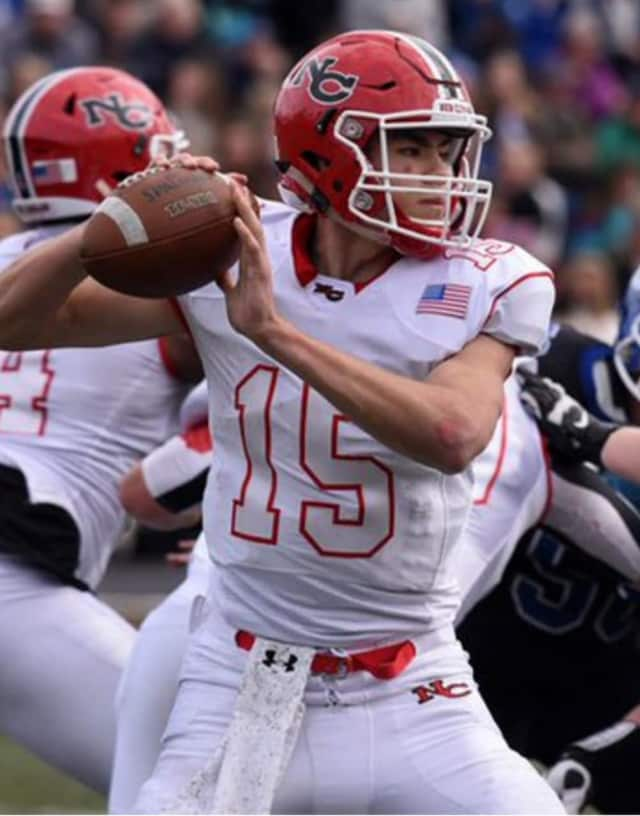 Football teams from Brookfield, Bloomfield, Darien and New Canaan (pictured above) were crowned as state champions after victories on Saturday.