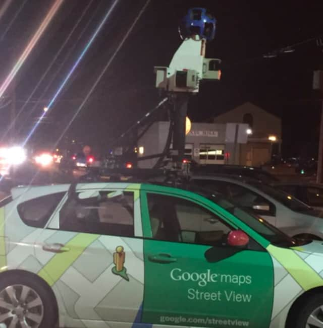 The Google Maps Street View car was recently spotted in Tunxis Hill and Villa Avenue in Fairfield.