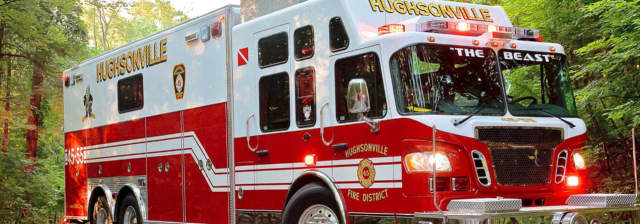 Hughsonville Fire Department was among those called to a trailer park fire on Monday.
