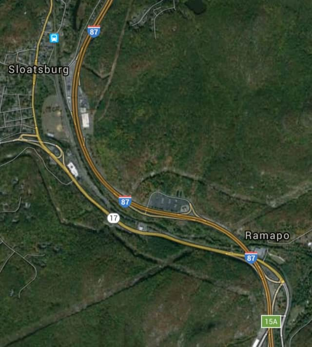 The accident occurred between Exit 15A and Exit 16 on I-87.
