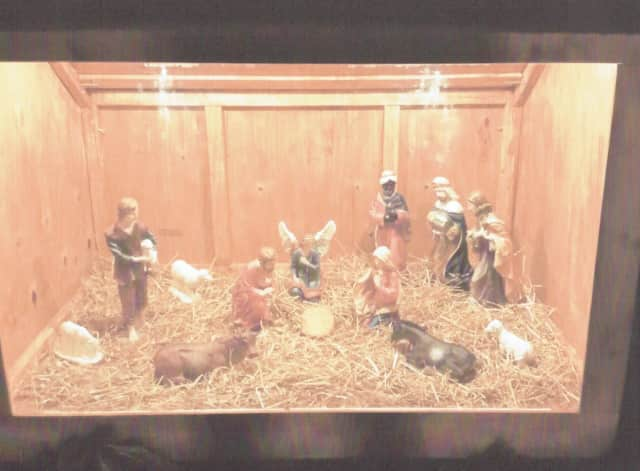 A creche similar to this will be blessed on the Monroe Town Green on Saturday.