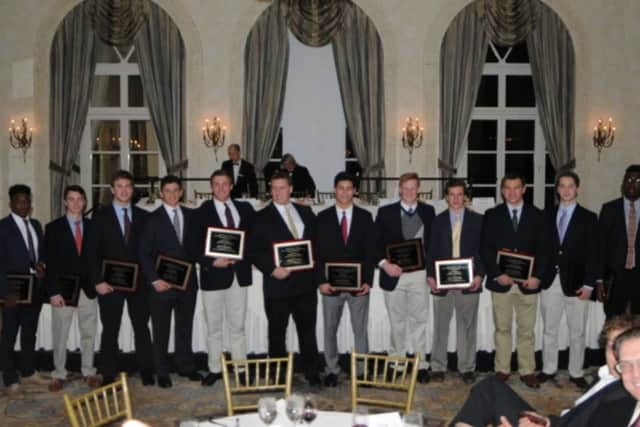 The 2015 Golden Dozen recipients at the 42nd annual dinner held this past January.